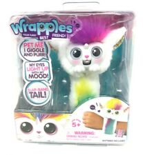 Little Live Wrapples Una White Pink  Furry Best Friend Interactive Pet Kids Toy