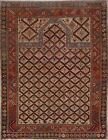 Antique Pre-1900 Vegetable Dye Shirvan Kazak Russian Area Rug Hand-knotted 4'x5'