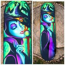 Maleficent Disney inspired skate board deck - Airbrushed hand painted skate deck