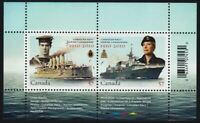 Canadian NAVY = MILITARY = Souvenir Sheet of 2 stamps Canada 2010 #2384 MNH VF