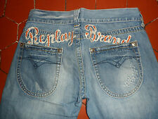 REPLAY jeans femme taille basse TAILLE 30/40F BON ETAT coupe droite (Corr 30x32)