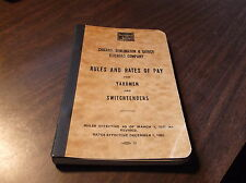 DECEMBER 1952 CB&Q YARDMEN AND SWITCHTENDERS RULES AND RATES OF PAY