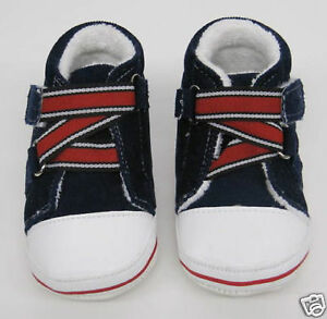 BABY BOYS GIRLS FIRST SHOES NAVY BLUE RED WHITE TRAINERS booties boots