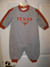 Texas Longhorns One Piece Outfit Baby Boys Girls Size 3 / 6 Months NWT       #23