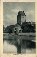 Dinkelsbühl alte AK Bayern ungelaufen~1920/30 Blick auf d. Rothenburger Tor Turm