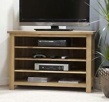 Eton solid oak living room furniture corner television cabinet stand unit