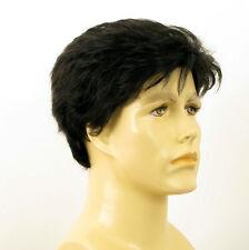 Perruque homme 100% cheveux naturel noir ref FRANCK 1b