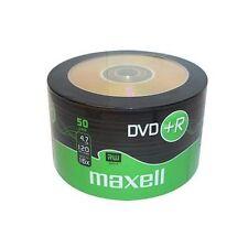 50 DVD +R MAXELL 275736 Vergini Vuoti Originali 16X 120 Minuti 4.7GB Bulk box