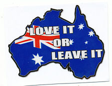 LOVE IT OR LEAVE  AUSTRALIA IPHONE DECAL Size apr 65 mm by 50 mm SET OF 5 DECALS