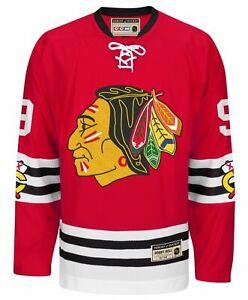 CCM NHL Men's Chicago Blackhawks Bobby Hull #9 Heroes of Hockey Jersey, Red