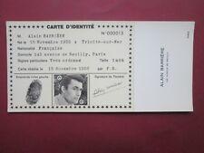 RARE CARTE  IDENTITE PUBLICITAIRE N° 13 ALAIN BARRIERE 1966 ETAT NEUF