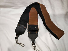 Vintage Leather SLR Camera Strap Wide/Heavy Duty Brown/Black