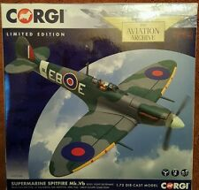 CORGI MOTORE Supermarine Spitfire Mk DELL'AVIAZIONE. VB GRANDE FUGA Collection AA31934A NUOVO