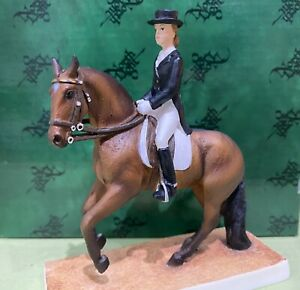 North Light - Horse Dressage Canter Pirouette-Bay Figure - Hand Painted - P1182