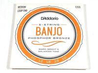 D'Addario Banjo Strings  EJ55 (formerly J55)  Phosphor Bronze  Medium