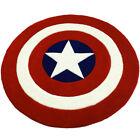 Captain America Shield Carpet Round Handmade Floor Mat Living Room Bedroom Mat