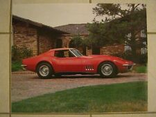 1969 Chevrolet Corvette LARGE Color Poster c1976 Excellent Original Condition