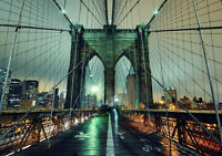 "BROOKLYN BRIDGE NYC NEW A1 CANVAS PRINT POSTER FRAMED 33.1""x23.4"""