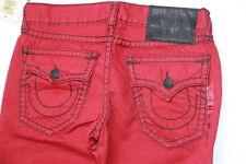 True Religion Men Red  Denim Jeans Ricky Super T  33 x 34