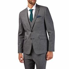 Burton 2 Piece Charcoal Textured Skinny Fit Suit TD079 SS 08