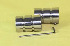 Gardinenstangenendkappen Segment für16mm Gardinenstangen,Metall im Edelstahllook