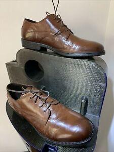 Chaussures GEOX SP Richelieu Homme ,Cuir Marron 45,Fabrication Italienne,Superbe