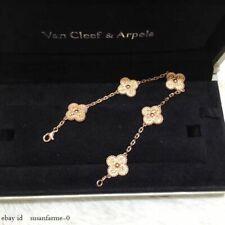 Van Cleef & Arpels Vintage Alhambra bracelet, 5 motifs , Yellow Gold, Diamond!!!