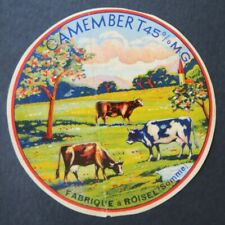 Etiquette fromage CAMEMBERT ROISEL somme   french cheese label 26