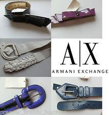 NEW GIORGIO EMPORIO ARMANI EXCHANGE AX WOMANS DESIGNER SHOES BAG DRESS SUIT BELT