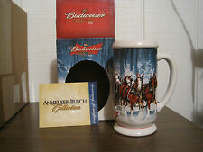 2007 BUDWEISER HOLIDAY CERAMIC STEIN -- WINTER'S CALM New