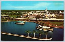 Aerial View of The Magic Kingdom at Walt Disney World Chrome Postcard Unused