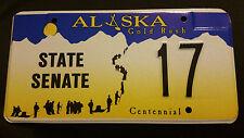 ALASKA STATE SENATE 17 LICENSE PLATE