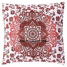 Large Mandala Floor Cushion Cover Decorative Square Pillow Ethnic Indian Decor