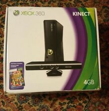 000 Microsoft Xbox 360 Slim 320 GB Black Console w/ Kinect 2 Controllers Sports