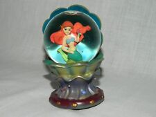 "Disney Store Little Mermaid Clamshell Ariel Mini 3"" snowglobe Under the Sea RARE"