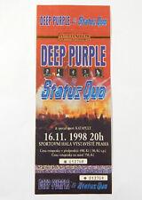 Deep Purple / Status Quo Unused Ticket Stub Vystaviste Praha Czech 11/16/98