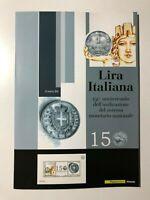 2012 Folder 150° Lira Italiana Italian Lira 150th Foglietto Argento Silver S/S