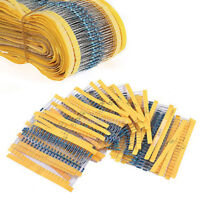 300PCS 30 Values 1/4W 1% Metal Film Resistors Resistance Assortment Set New ~