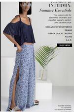 Intermix Silk Pants Side Openings Size L