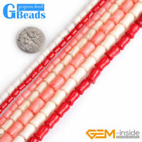 Tulip Flower Coral Carved Stone Loose Beads For Jewelry Making Craft DIY 15''