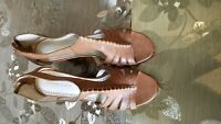 Adrienne Vittadini Rassy Wedge Sandal with Fine Leather Upper size 10, Pre-owned