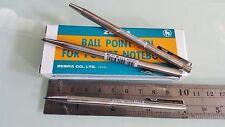 2 pcs Zebra T3 mini pocket size stainless steel ball pen blue ink, free shipment
