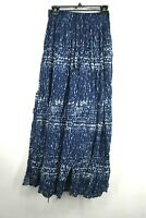 Abercrombie & Fitch Womens Long Blue Elastic & Drawstring Waist Skirt Size M