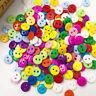 50/100pcs 11mm Mix Plastic Buttons 2Holes Child DIY Sewing Appliques PT14