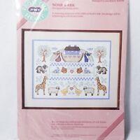 "Vintage Dimensions Stamped Cross Stitch Noah's Ark Kit #53018 16 x 12"" - New"
