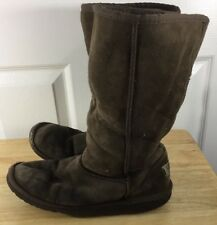 Ugg Boots Women's Size 6 Brown Leather Wool Lined 5229
