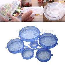 6PCS Silicone Suction Lid-bowl Pan Cooking Pot Silicone Stretch Cover Universal