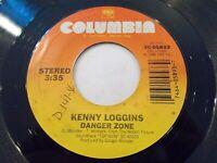 Kenny Loggins Danger Zone / I'm Gonna Do It Right 45 1985 Columbia Vinyl Record