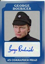 Star Wars Rogue One Mission Briefing Blue Autograph Card Roubicek as Com Praji