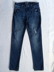 Justice Denim Jeans Girls Size 10 MID RISE SUPER SKINNY Distressed